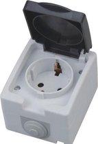 Buitenstopcontact - Opbouw - Enkel - Geaard - Waterdicht IP54 - BSE