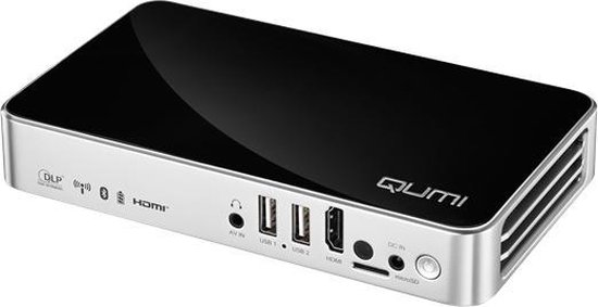 Vivitek Q3 PLUS-BK beamer/projector 500 ANSI lumens DLP 720p (1280x720) Draagbare projector Zwart