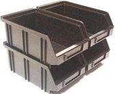 Erro - 4x Magazijnbakjes op Muurstrip