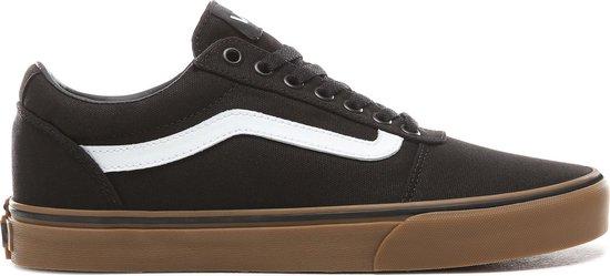 Vans Ward Canvas Heren Sneakers - Black/Gum - Maat 42