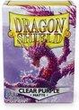 Afbeelding van het spelletje Asmodee SLEEVES Dragon Shield Matte Clear Purple (100ct) - EN