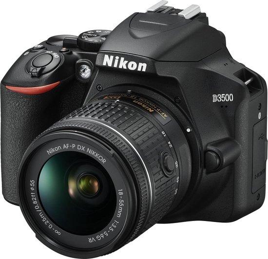 Nikon D3500 + AF-P DX 18-55 f/3.5-5.6G VR - Zwart