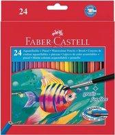 aquarelpotlood Faber-Castell etui a 24 stuks + penseel FC-114425