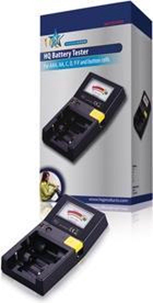 HQ BAT-TESTER5 vermogen / batterij tester Zwart - HQ
