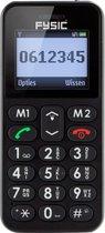 Fysic FM-6700 Senioren mobiele telefoon - SOS noodknop, grote toetsen en eenvoudig menu - Zwart