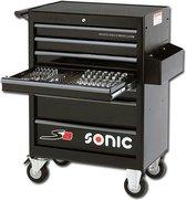 Sonic gereedschapswagen gevuld 285 delig 7 laden zwart S8