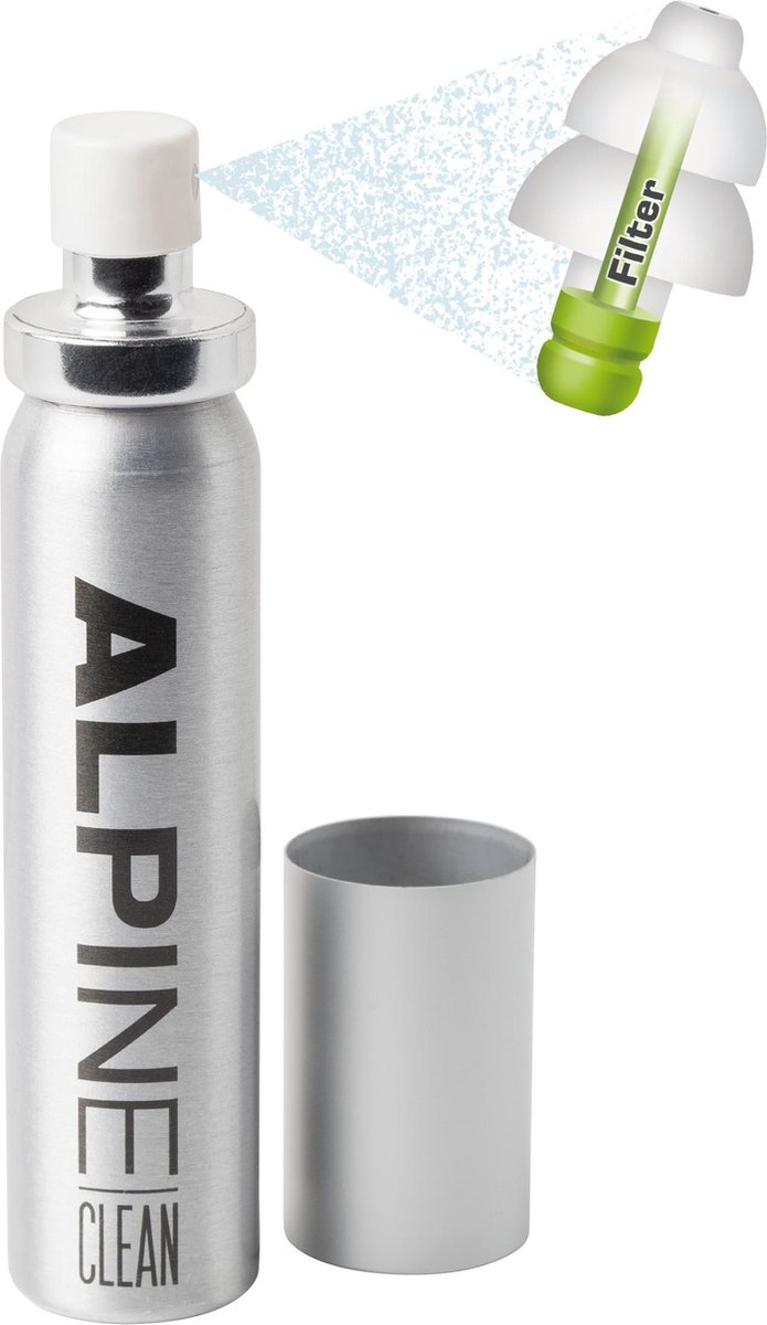 Alpine Clean - Schoonmaakspray oordoppen - 25 ml - 1 stuk