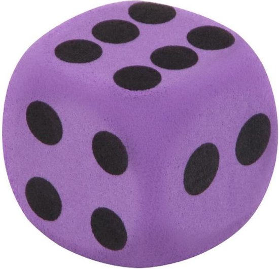 Afbeelding van het spel 2 Stuks Leuke Paarse Foam Dobbelsteen 4X4cm - Dice