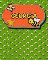 Handwriting Practice 120 Page Honey Bee Book Georgia