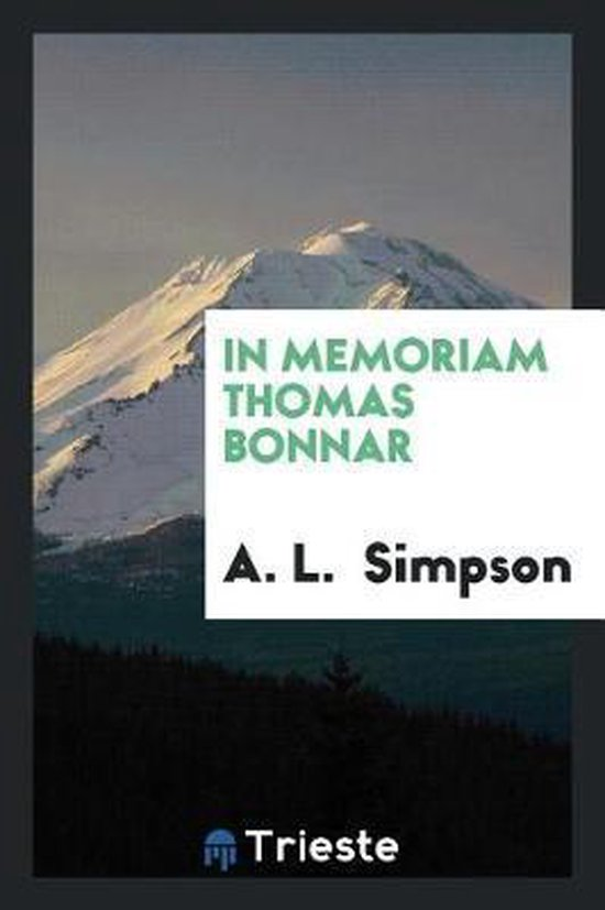 In Memoriam Thomas Bonnar