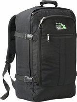 CabinMax Metz – Handbagage - Rugzak 44l– Schooltas - 55x40x20cm – Lichtgewicht - Zwart  (MZ BK)
