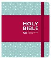 NIV Journalling Mint Polka Dot Cloth Bible