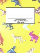 Composition Book Wide Ruled 100 Pages (7.44 x 9.69)
