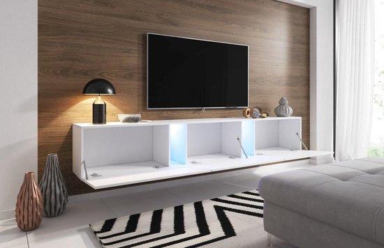 Bol Com Zwevend Tv Meubel Eiken 240 Cm Led Clean Design