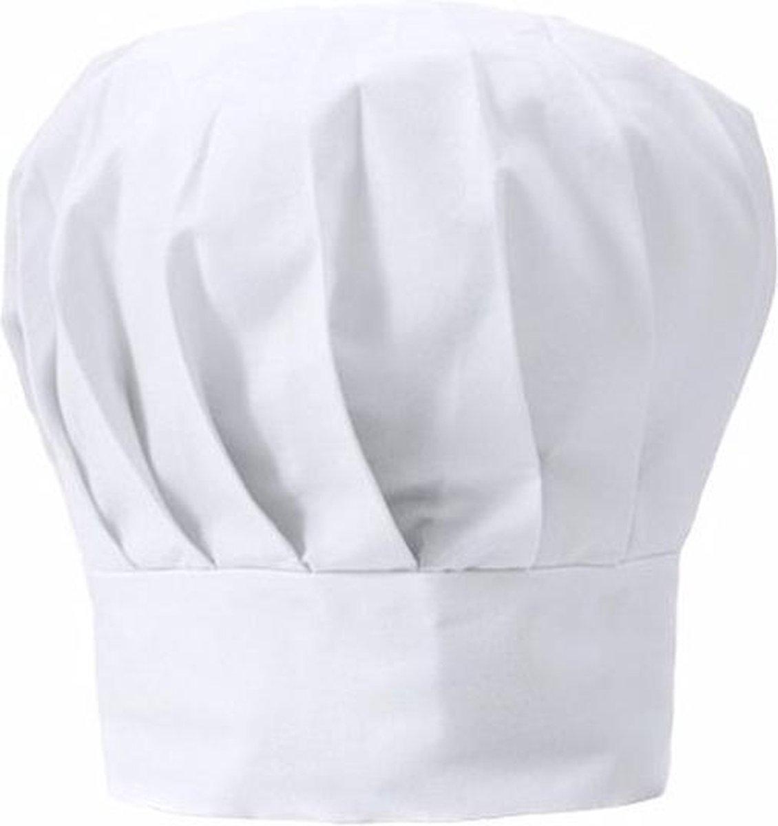 Luxe witte koksmuts voor volwassenen