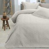 Sleeptime Wave - Bedsprei - 260x250 + 2 kussenslopen 60x70 - Creme