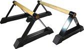 Strongman Parallettes Opdruk Set - laag - hout - metaal