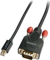 Lindy 41961 video kabel adapter 1 m Mini DisplayPort VGA Zwart