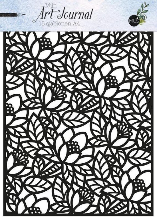 Mijn Art Journal 15 sjablonen A4 - none | Fthsonline.com