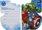 Marvel Uitnodigingen Avengers Jongens 12 Cm Blauw 8 Stuks
