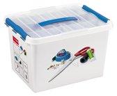 Sunware Q-Line Opbergbox  - 22L - Naaidoos - Wit/Blauw