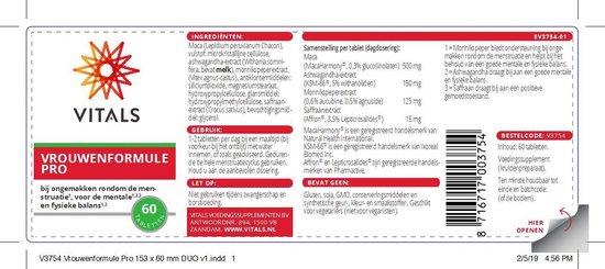 Vitals Vrouwenformule pro Voedingssupplementen - 60 tabletten