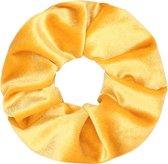 Velvet scrunchie geel