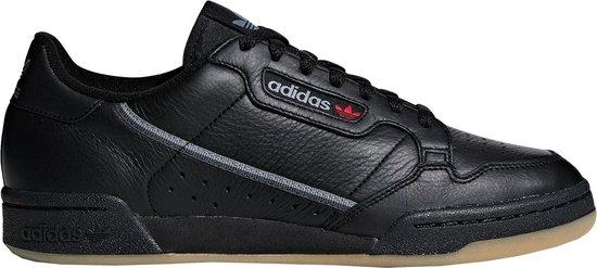 adidas Continental 80 Sneakers - Maat 44 2/3 - Unisex - zwart/bruin