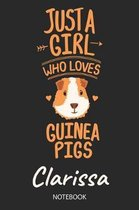 Just A Girl Who Loves Guinea Pigs - Clarissa - Notebook
