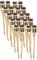 Bamboe tuinfakkels set 20 stuks 61 cm