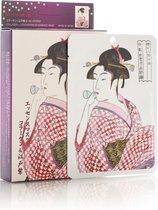 Mitomo Japan Collageen Face Mask Sheet Mask Gezichtsmasker - verrijkt met o.a. Allantoin, Glycerine, Panthenol, Aloe Vera - Gezichtsverzorging vrouw - 10 St. Voordeelverpakking