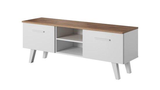 TV Meubel Wit - Scandinavisch Design - 140x38x52 cm