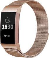 YONO Milanees bandje - Fitbit Charge 3 en 4 - Rose Gold - Large