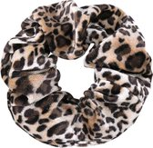 Velvet Scrunchie Leopard