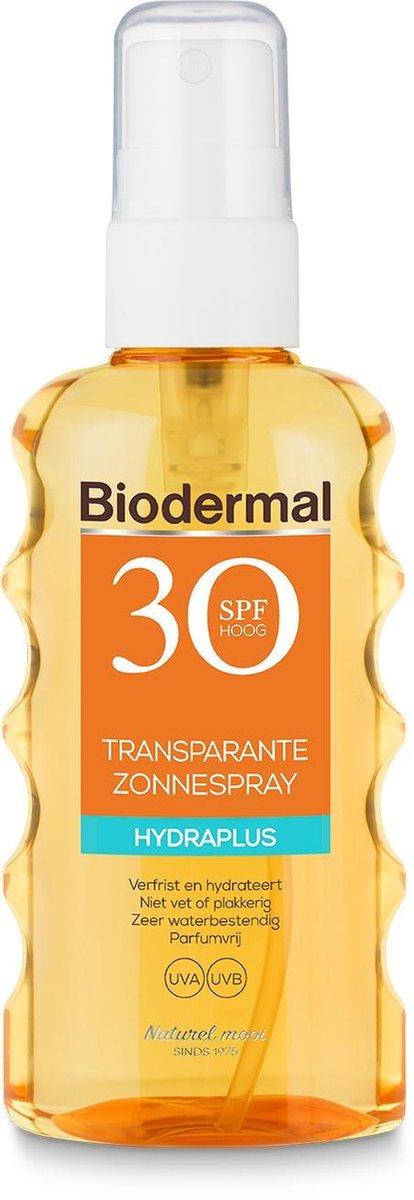 Biodermal zonnebrand Transparante Spray SPF30 - 175ml