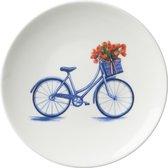 Bord fiets klein | Heinen Delfts Blauw | Wandbord | Delfts Blauw bord | Design |