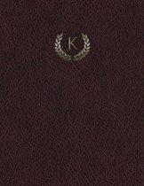 Monogram K Grid Sketchbook
