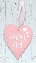 """Houten hart """"Baby Girl"""""""