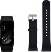Just in Case Siliconen bandje - Samsung Gear Fit 2 (Pro) - zwart