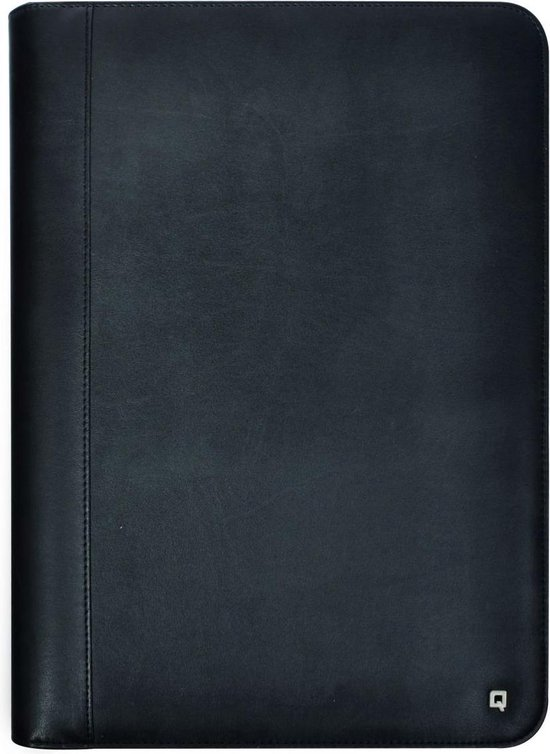 DESQ® Schrijfmap met uitneembare ringband | Ritssluiting | A4 | incl. schrijfblok 20 vel | Hoogwaardig kunstleer | Zwart - Desq