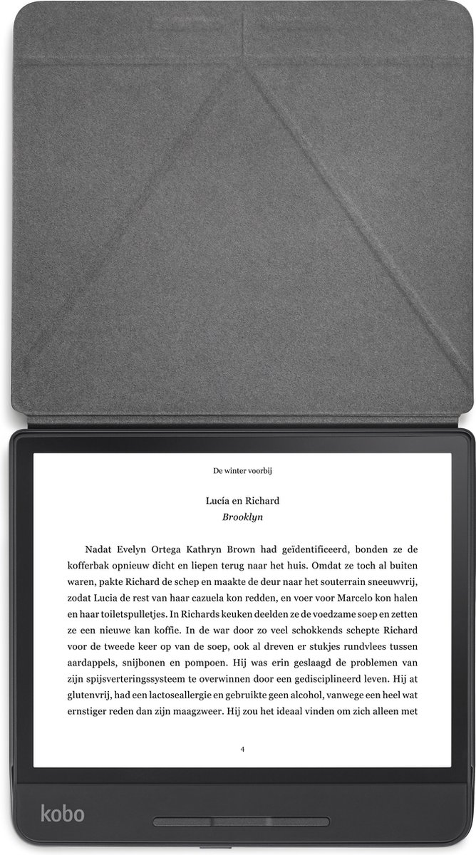 Kobo - Beschermhoes Sleepcover voor Kobo Forma - Zwart
