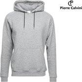 Pierre Calvini Hoodie Heren Trui - Sweater Heren Met Capuchon - Grijs - XXL