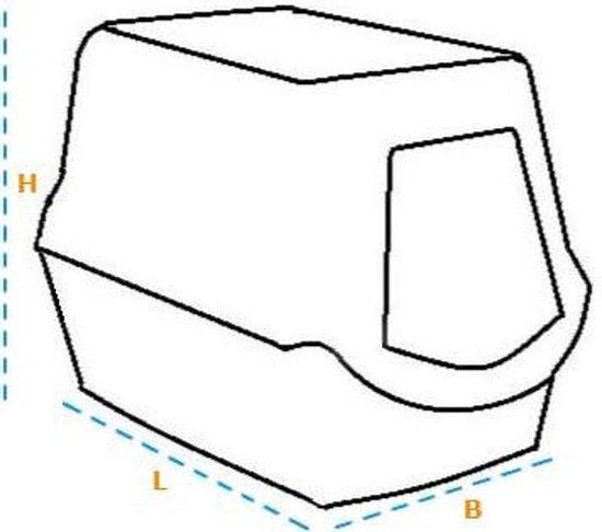 Curver Kattenbak - Antraciet - 51 x 38,5 x 39,5 cm