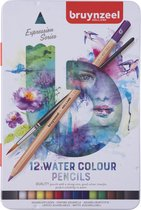 Aquarelpotloden in blik Expression: 12 stuks (7735