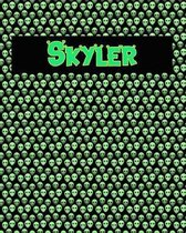 120 Page Handwriting Practice Book with Green Alien Cover Skyler
