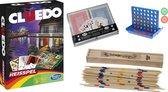 Spellen pakket vakantie reis editie Cluedo  4 op 1 rij  Vier op een rij  Mikado Speelkaarten spelletjes reizen
