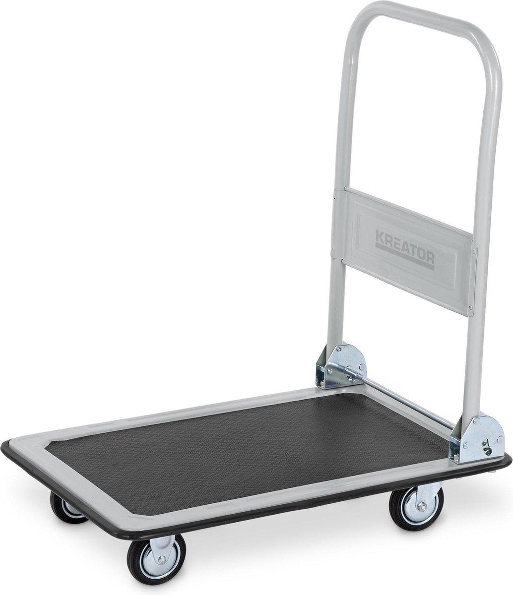 Kreator KRT670102 Plateauwagen - opvouwbaar - 300 kg draagvermogen