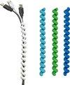 Kabels bundelen met Cable Twister donkerblauw, lichtblauw, groen | set van 3 stuks
