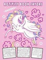 Unicorn Activity Book Favors