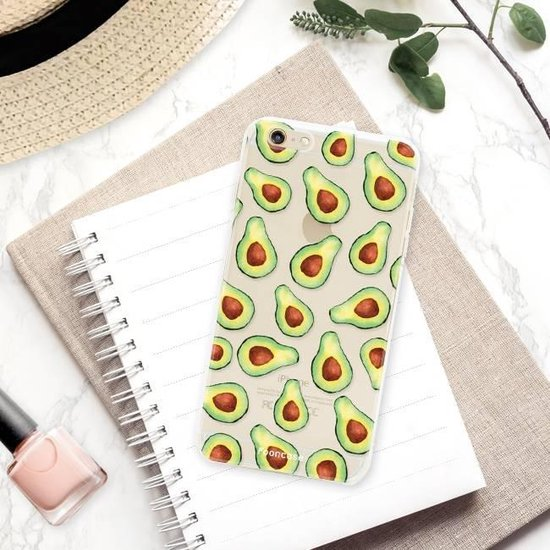 FOONCASE iPhone 6 / 6S hoesje TPU Soft Case - Back Cover - Avocado